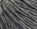 Fiber Content 50% Merino Wool, 25% Alpaca, 25% Acrylic, Brand ICE, Grey Melange, Yarn Thickness 4 Medium  Worsted, Afghan, Aran, fnt2-57208
