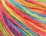 Fiber Content 50% Wool, 50% Acrylic, Turquoise, Salmon, Orange, Lilac, Brand ICE, Green, Yarn Thickness 4 Medium  Worsted, Afghan, Aran, fnt2-57242