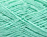 Fiber Content 100% Cotton, Mint Green, Brand ICE, Yarn Thickness 2 Fine  Sport, Baby, fnt2-57310