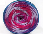 Fiber Content 50% Cotton, 50% Acrylic, Turquoise, Purple, Pink, Lilac, Brand ICE, Fuchsia, Yarn Thickness 2 Fine  Sport, Baby, fnt2-57334