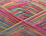 Fiber Content 100% Acrylic, Yellow, Pink, Brand ICE, Green, Blue, Yarn Thickness 2 Fine  Sport, Baby, fnt2-57353