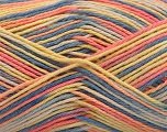 Fiber Content 100% Acrylic, Yellow, Salmon, Brand ICE, Blue, Yarn Thickness 2 Fine  Sport, Baby, fnt2-57355