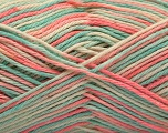 Fiber Content 100% Acrylic, Turquoise, Salmon, Brand ICE, Cream, Yarn Thickness 2 Fine  Sport, Baby, fnt2-57360