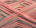 Fiber Content 100% Acrylic, Pink Shades, Brand ICE, Grey, Cream, Yarn Thickness 2 Fine  Sport, Baby, fnt2-57362