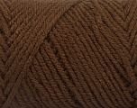 Items made with this yarn are machine washable & dryable. Fiber Content 100% Acrylic, Brand ICE, Coffee Brown, Yarn Thickness 4 Medium  Worsted, Afghan, Aran, fnt2-57406
