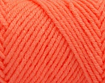 Items made with this yarn are machine washable & dryable. Fiber Content 100% Acrylic, Light Orange, Brand ICE, Yarn Thickness 4 Medium  Worsted, Afghan, Aran, fnt2-57427