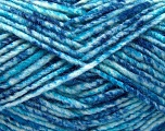 Fiber Content 70% Acrylic, 30% Wool, Turquoise Shades, Brand ICE, Yarn Thickness 4 Medium  Worsted, Afghan, Aran, fnt2-57648
