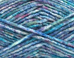 Fiber Content 70% Acrylic, 30% Wool, Turquoise Shades, Pink, Lilac, Brand ICE, Yarn Thickness 4 Medium  Worsted, Afghan, Aran, fnt2-57649