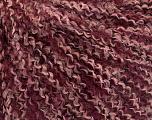 Fiber Content 100% Acrylic, Light Pink, Brand ICE, Burgundy, fnt2-57710