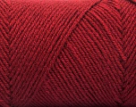 Fiber Content 50% Wool, 50% Acrylic, Brand ICE, Burgundy, fnt2-57735