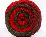 Fiber Content 90% Acrylic, 10% Polyamide, Red, Khaki, Brand ICE, Burgundy, fnt2-57782