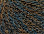 Fiber Content 60% Acrylic, 30% Wool, 10% Polyamide, Turquoise, Brand ICE, Brown, fnt2-57823