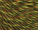 Conţinut de fibre 50% Acrilic, 50% Lână, Brand ICE, Green Shades, Brown, Yarn Thickness 3 Light  DK, Light, Worsted, fnt2-57863