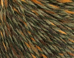 Fiber Content 50% Wool, 50% Acrylic, Yellow, Brand ICE, Green Shades, Brown, fnt2-57997