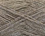 Fiber Content 50% Cotton, 30% Acrylic, 20% Metallic Lurex, Silver, Brand ICE, Camel, fnt2-58011
