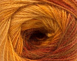 Fasergehalt 75% Acryl, 25% Angora, Yellow, Brand ICE, Gold, Brown, fnt2-58021