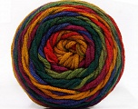 Conţinut de fibre 100% Acrilic, Red, Purple, Brand ICE, Green Shades, Gold, Yarn Thickness 4 Medium  Worsted, Afghan, Aran, fnt2-58033