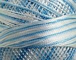 Fiber Content 100% Micro Fiber, Brand YarnArt, White, Blue, Yarn Thickness 0 Lace  Fingering Crochet Thread, fnt2-17332