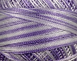 Fiber Content 100% Micro Fiber, Brand YarnArt, White, Lilac, Yarn Thickness 0 Lace  Fingering Crochet Thread, fnt2-17333