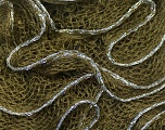 Fiber Content 90% Acrylic, 10% Lurex, Silver, Brand ICE, Dark Green, Yarn Thickness 6 SuperBulky  Bulky, Roving, fnt2-22098