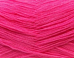 Very thin yarn. It is spinned as two threads. So you will knit as two threads. Yardage information is for only one strand. Fiber Content 100% Acrylic, Brand Ice Yarns, Candy Pink, Yarn Thickness 1 SuperFine  Sock, Fingering, Baby, fnt2-22449