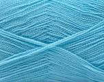 Very thin yarn. It is spinned as two threads. So you will knit as two threads. Yardage information is for only one strand. Fiber Content 100% Acrylic, Light Blue, Brand Ice Yarns, Yarn Thickness 1 SuperFine  Sock, Fingering, Baby, fnt2-22666