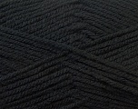 Worsted  Fiber Content 100% Acrylic, Brand Ice Yarns, Black, Yarn Thickness 4 Medium  Worsted, Afghan, Aran, fnt2-23720