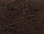 Fiber Content 70% Mohair, 30% Acrylic, Brand ICE, Dark Brown, Yarn Thickness 5 Bulky  Chunky, Craft, Rug, fnt2-24649