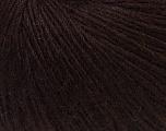Fiber Content 48% Merino Wool, 27% Acrylic, 25% Polyamide, Brand Ice Yarns, Dark Brown, Yarn Thickness 2 Fine  Sport, Baby, fnt2-26136