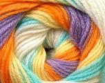 Fiber Content 100% Baby Acrylic, Yellow, White, Orange, Lilac, Light Green, Brand Ice Yarns, Yarn Thickness 2 Fine  Sport, Baby, fnt2-29611