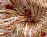 Hand-Tied Cocktail line includes yarns that are hand-tied and made by combining different types of fancy yarns from end-to-end. To make a scarf with this yarn, all you need is to knit 150 stitches per row with 5mm / US 8 . Please note that the weight and yardage information iof this yarn is approximate, and since yarn is hand-tied items made with this yarn will have knots. Fiber Content 100% Polyester, Yellow, White, Red, Pink, Brand Ice Yarns, Camel, Yarn Thickness 4 Medium  Worsted, Afghan, Aran, fnt2-29936