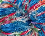 Hand-Tied Cocktail line includes yarns that are hand-tied and made by combining different types of fancy yarns from end-to-end. To make a scarf with this yarn, all you need is to knit 150 stitches per row with 5mm / US 8 . Please note that the weight and yardage information iof this yarn is approximate, and since yarn is hand-tied items made with this yarn will have knots. Fiberinnhold 100% Polyester, Pink, Brand Ice Yarns, Blue Shades, Yarn Thickness 4 Medium  Worsted, Afghan, Aran, fnt2-29945