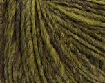 Fiber Content 45% Wool, 40% Acrylic, 15% Alpaca, Brand ICE, Green, Brown, Yarn Thickness 4 Medium  Worsted, Afghan, Aran, fnt2-32130