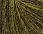 Fiber Content 45% Wool, 40% Acrylic, 15% Alpaca, Brand ICE, Green, Brown, Yarn Thickness 4 Medium  Worsted, Afghan, Aran, fnt2-32130