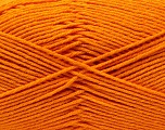 Fiber Content 50% Acrylic, 50% Cotton, Orange, Brand Ice Yarns, Yarn Thickness 3 Light  DK, Light, Worsted, fnt2-32786