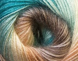 Fiber Content 75% Acrylic, 25% Angora, Turquoise, Light Brown, Light Blue, Brand Ice Yarns, Cream, Camel, Yarn Thickness 2 Fine  Sport, Baby, fnt2-33233