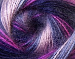 Fiber Content 75% Acrylic, 25% Angora, Purple, Pink, Maroon, Lilac, Brand Ice Yarns, Yarn Thickness 2 Fine  Sport, Baby, fnt2-33242