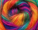 Fiber Content 75% Acrylic, 25% Angora, Rainbow, Brand ICE, Yarn Thickness 2 Fine  Sport, Baby, fnt2-33245