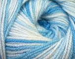 Fiberinnhold 100% Premium akryl, White, Brand Ice Yarns, Blue Shades, Yarn Thickness 3 Light  DK, Light, Worsted, fnt2-33391