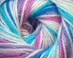 Fiber Content 100% Premium Acrylic, White, Rose Pink, Lilac, Brand Ice Yarns, Blue Shades, Yarn Thickness 3 Light  DK, Light, Worsted, fnt2-33393