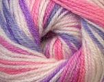 Fiber Content 100% Premium Acrylic, White, Purple, Pink, Lilac, Brand Ice Yarns, Yarn Thickness 3 Light  DK, Light, Worsted, fnt2-33394