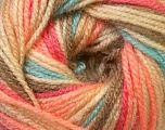 Fiber Content 100% Premium Acrylic, Salmon, Khaki, Brand Ice Yarns, Cream, Camel, Blue, Yarn Thickness 3 Light  DK, Light, Worsted, fnt2-33396