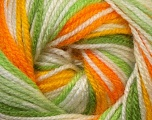 Fiber Content 100% Premium Acrylic, Yellow, White, Orange, Brand Ice Yarns, Green Shades, Yarn Thickness 3 Light  DK, Light, Worsted, fnt2-33398