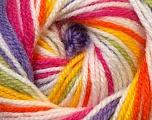 Fiber Content 100% Premium Acrylic, Yellow, White, Pink, Orange, Lilac, Brand Ice Yarns, Green, Yarn Thickness 3 Light  DK, Light, Worsted, fnt2-33399
