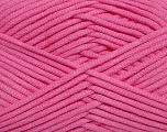 This is a tube-like yarn with soft fleece inside. Fiber Content 73% Viscose, 27% Polyester, Pink, Brand ICE, Yarn Thickness 5 Bulky  Chunky, Craft, Rug, fnt2-35610