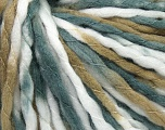 Fiber Content 100% Acrylic, White, Khaki, Brand ICE, Grey, Yarn Thickness 5 Bulky  Chunky, Craft, Rug, fnt2-36344
