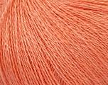Fiber Content 50% Silk, 40% Merino Superfine, 10% Kid Mohair, Salmon, Brand Ice Yarns, Yarn Thickness 1 SuperFine  Sock, Fingering, Baby, fnt2-37008