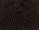 Kuitupitoisuus 65% Puuvilla, 35% Akryyli, Brand Ice Yarns, Dark Brown, Yarn Thickness 2 Fine  Sport, Baby, fnt2-37117