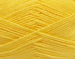 Fiber Content 100% Acrylic, Brand Ice Yarns, Baby Yellow, Yarn Thickness 3 Light  DK, Light, Worsted, fnt2-39462