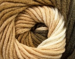 Fiber Content 70% Acrylic, 30% Merino Wool, White, Khaki, Brand Ice Yarns, Cream, Brown, Yarn Thickness 5 Bulky  Chunky, Craft, Rug, fnt2-39956